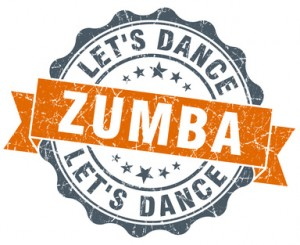 zumba vintage orange seal isolated on white
